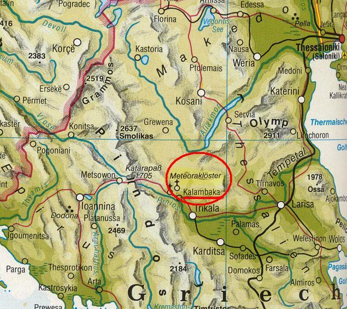 Meteora Klöster Karte.Meteora Griechenland Karte Filmgroephetaccent